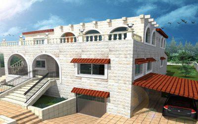 خدمة تصميم معماري 3D داخلي وخارجي